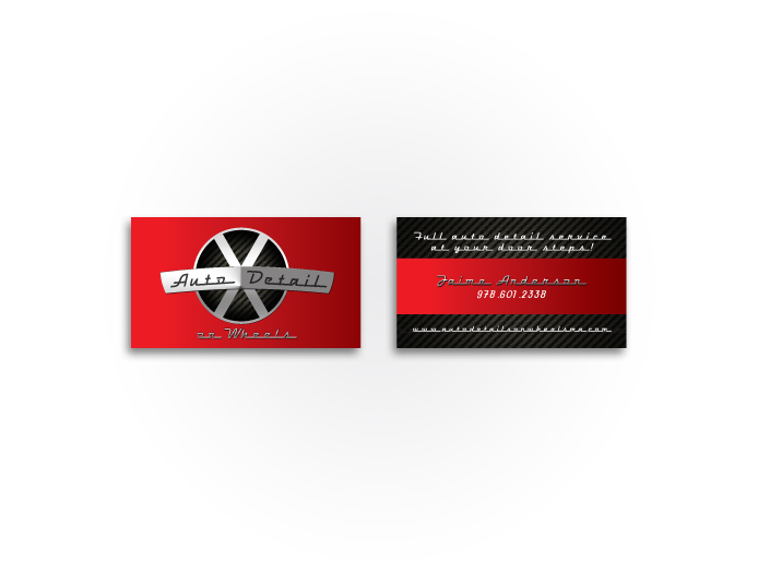 Auto Detail on Wheels Business Card