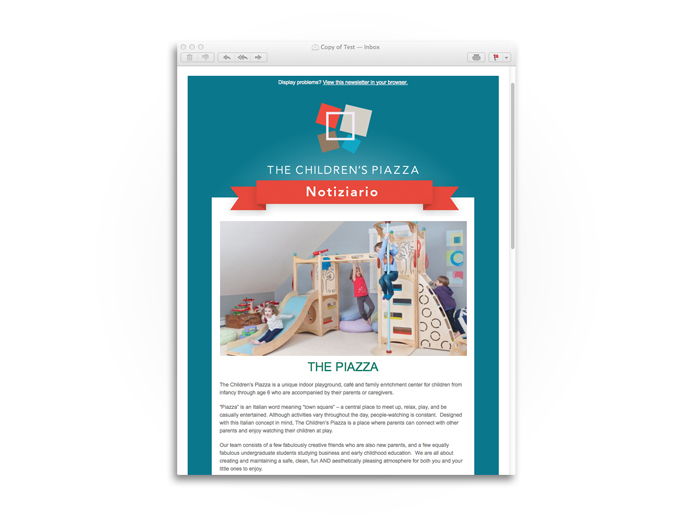 The Children's Piazza Newsletter