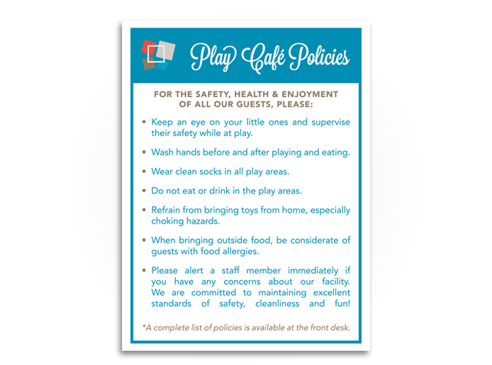 The Children's Piazza Policy Poster